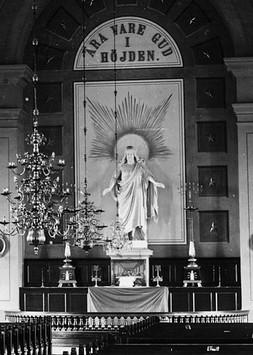 Ockelbo kyrka med CJD:s Kristusbild